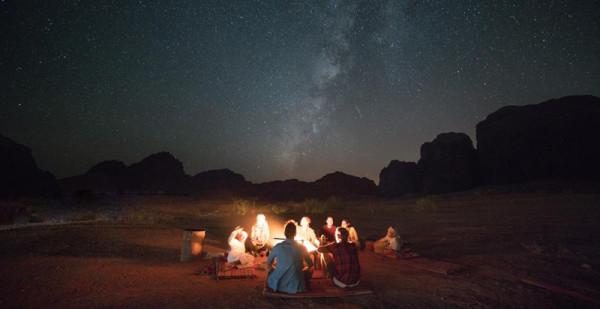 Lagerfeuer im Wadi Rum