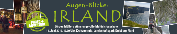 """""""Augen-Blicke: Irland"""" - Jürgen Müllers stimmungsvolle Multivisionsshow in der Kraftzentrale des Landschaftsparks Duisburg-Nord"""