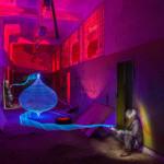 Lichtkunst ZOLAQ - Blue Lantern