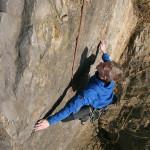 Alexander Lorrek beim Klettern