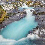 Bruarfoss in Island mit Graufilter fotografiert