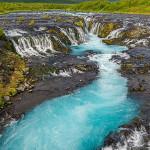 Bruarfoss in Island ohne Filter fotografiert