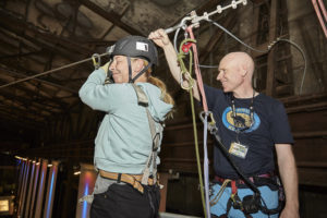 Zip-Line bei der Photo+Adventure 2016, © Photo+Adventure / Tina Umlauf