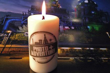 Foto auf Kerze