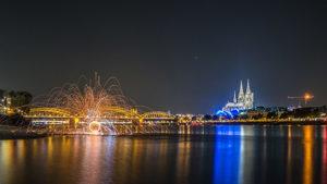 Lightpainting in Köln, © ZOLAQ