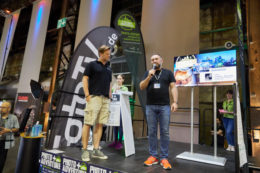 Pavel Kaplun auf der Bühne #footprints