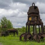 Vergessene Reste im Landschaftspark