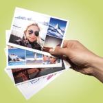 Urlaubsfotos als Postkarte