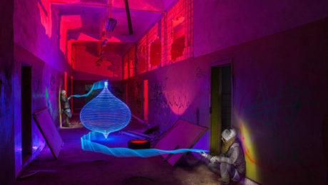 Lightpainting - Blue Lantern