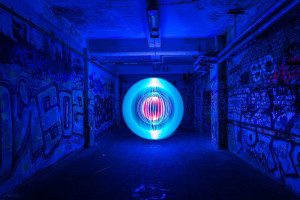 Light painting - Deep Impact