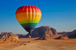 Ballonfahrt im Wadi Rum