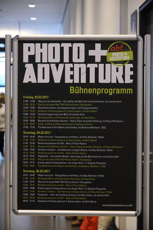 Bühnenprogramm abf präsentiert Photo+Adventure