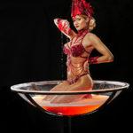 Leony La Roc - Champagnerglasshow