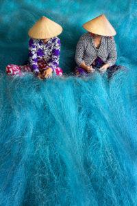Blaues Fischernetz, Vietnam © Sina Falker