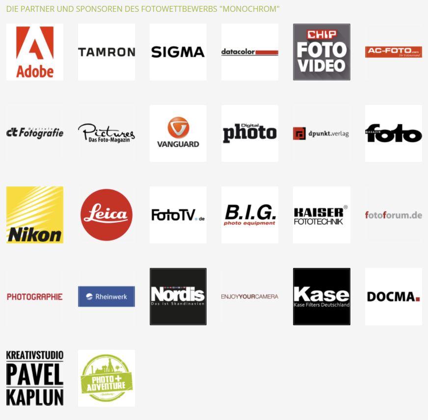 """Sponsoren Fotowettbewerb """"Monochrom"""""""