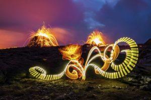 Lightpainting, © Olaf Schieche